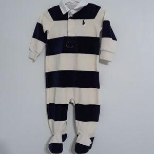 Baby boy Ralph Lauren footed onsie 9 Months